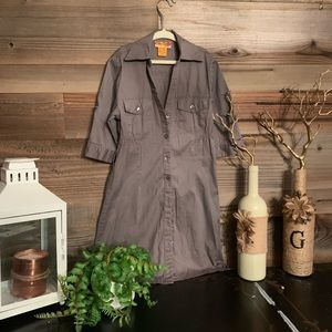 Khaki/army green girls size 8 shirt dress.